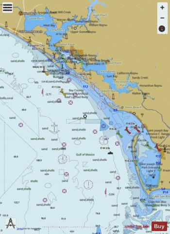 ST JOSEPH AND ST ANDREW BAYS Marine Chart - Nautical Charts App