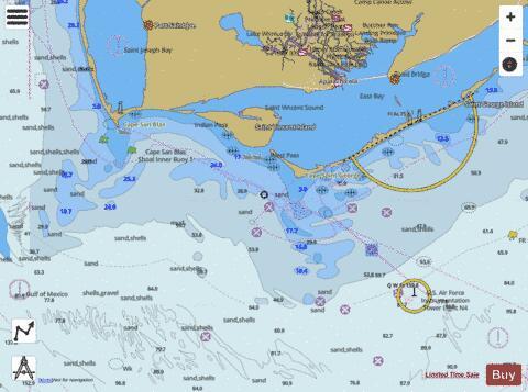 Apalachicola Bay To Cape San Blas Marine Chart Us11401p167