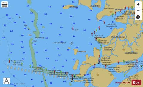 Suwannee River Marine Chart Us11408 P172 Nautical Charts App