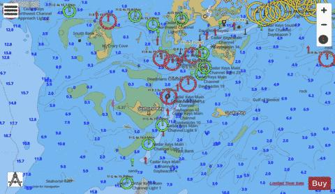 CEDAR KEYS (Marine Chart : US11408_P173) | Nautical Charts App