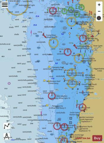 Anclote Keys To Crystal River Marine Chart Us11409p174