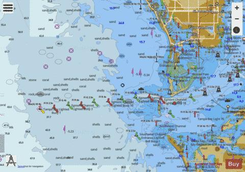 Tampa Bay Entrance Marine Chart Nautical Charts