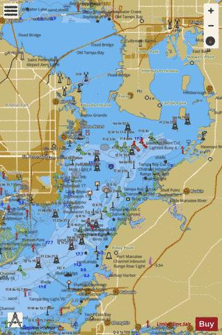 Tampa Bay Northern Section Marine Chart Nautical Charts