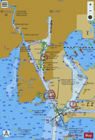 TAMPA BAY NORTHERN SECTION - TAMPA HARBOR INSET Marine Chart - Nautical Charts App