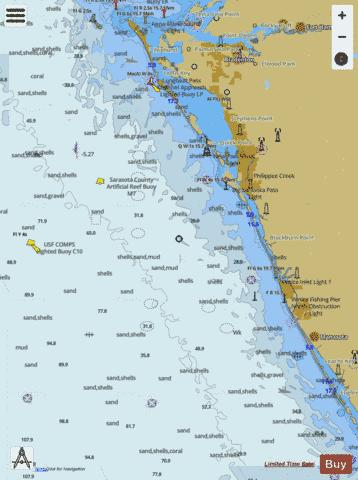 LEMON BAY TO PASSAGE KEY INLET Marine Chart - Nautical Charts App