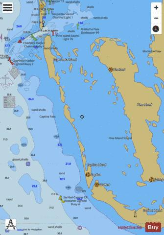 FORT MYERS TO CHARLOTTE HARBOR AND WIGGINS PASS BB-CC Marine Chart - Nautical Charts App