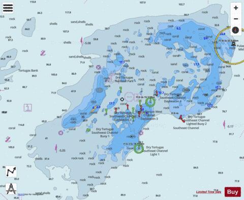 DRY TORTUGAS FLORIDA Marine Chart US11438P331 Nautical Charts App