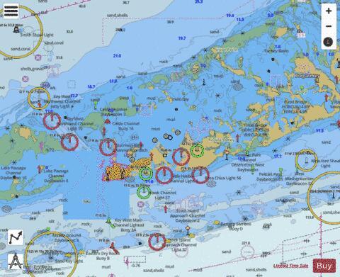 Sugarloaf Key To Key West Marine Chart Us11446p330 Nautical