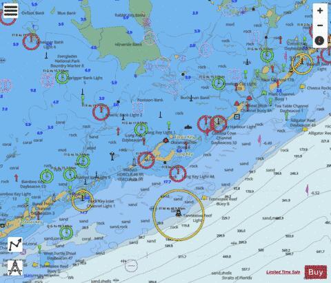 Intracoastal Waterway Matecumbe To Grassy Key Marine Chart