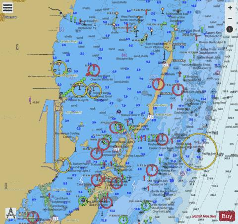 MAIMI TO MARATHON and FLORIDA BAY EXT 1 Marine Chart - Nautical Charts App