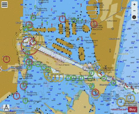 MIAMI TO MARATHON AND FLORIDA BAY PAGE D INSET 1 Marine Chart - Nautical Charts App