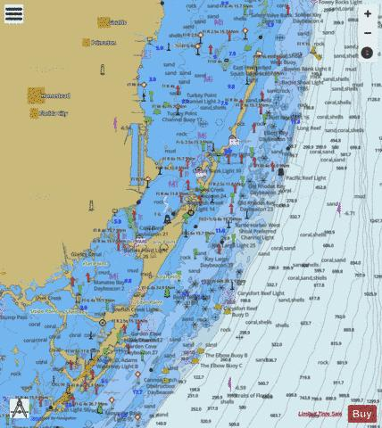 SANDS KEY TO BLACKWATER SOUND Marine Chart - Nautical Charts App