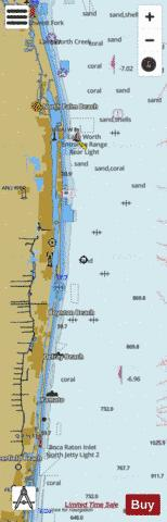 JUPITER INLET TO FOWEY ROCKS Marine Chart - Nautical Charts App