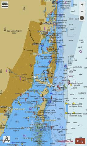 WEST PALM BEACH TO MIAMI FLORIDA Marine Chart - Nautical Charts App