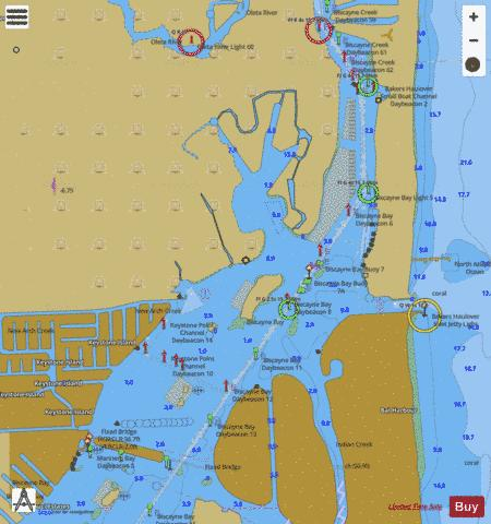 INTRACOASTAL WATERWAY - BISCAYNE BAY (Marine Chart ...