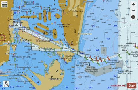 MIAMI HARBOR Marine Chart - Nautical Charts App