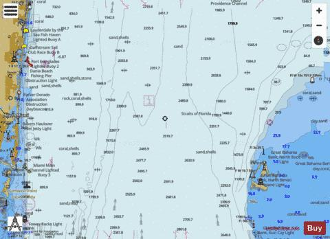 FOWEY ROCKS- HILLSBORO INLET TO BIMINI ISLANDS Marine Chart - Nautical Charts App