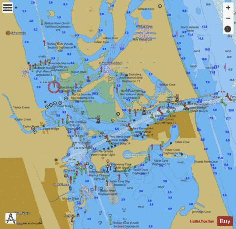 PALM SHORES TO WEST PALM BEACH INSET 1 Marine Chart - Fort Pierce To Jupiter Map Us 1