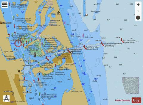 FORT PIERCE HARBOR Marine Chart - Nautical Charts App