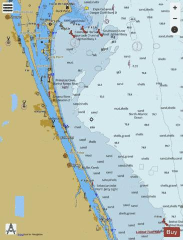 CAPE CANAVERAL TO BETHEL SHOAL Marine Chart - Nautical Charts App