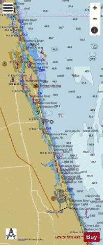 TOLOMATO RIVER TO PALM SHORES FLORIDA FF-GG Marine Chart - Nautical Charts App