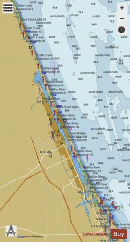 TOLOMATO RIVER TO PALM SHORES FLORIDA GG-HH Marine Chart - Nautical Charts App