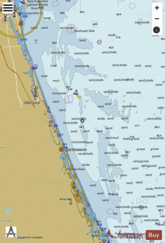 ST AUGUSTINE LIGHT TO PONCE DE LEON INLET Marine Chart - Nautical Charts App