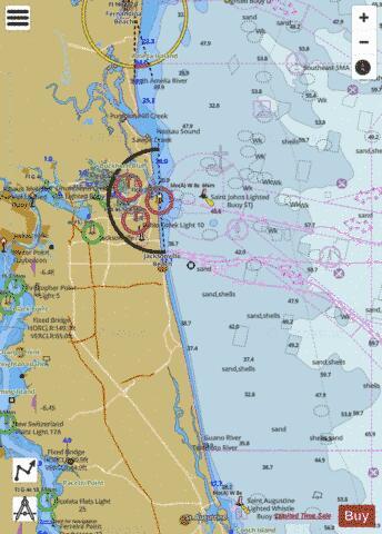 amelia island to st augustine marine chart us11488 p285 nautical charts app. Black Bedroom Furniture Sets. Home Design Ideas