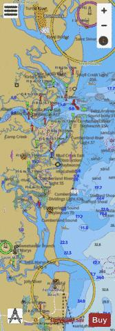 ST SIMONS SOUND TO TOLOMATO RIVER BB-CC Marine Chart - Nautical Charts App
