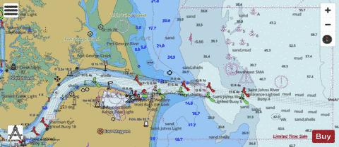 ST JOHNS RIVER ENTRANCE (Marine Chart : US11490_P258) | Nautical