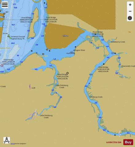 ARLINGTON RIVER EXTENSION Marine Chart - Nautical Charts App