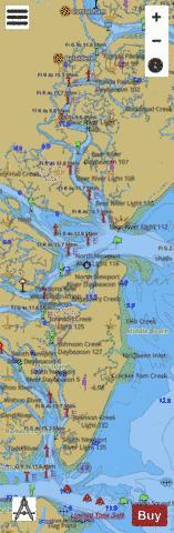BEAUFORT RIVER TO ST SIMONS SOUND ZZ-AA Marine Chart - Nautical Charts App