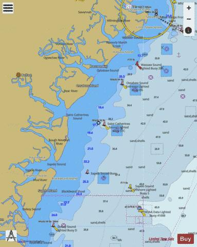 TYBEE ISLAND TO DOBOY SOUND Marine Chart - Nautical Charts App