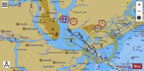 ICW CASINO CREEK TO BEAUFORT RIVER SIDE A Marine Chart - Nautical Charts App