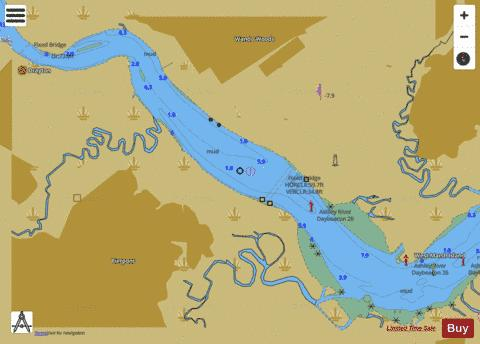 CONTINUATION OF ASHLEY RIVER Marine Chart - Nautical Charts App
