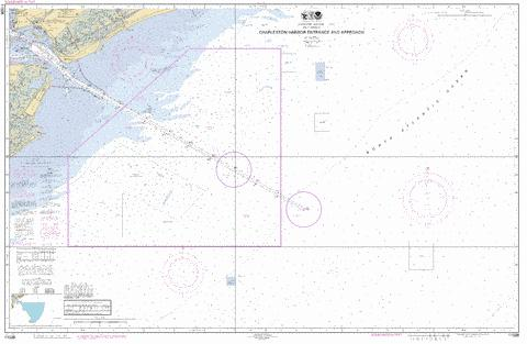 CHARLESTON HARBOR ENTRANCE AND APPROACH Marine Chart - Nautical Charts App