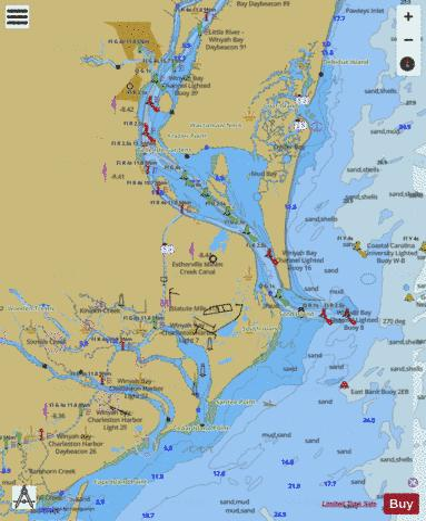 WINYAH BAY (Marine Chart : US11532_P212) | Nautical Charts App