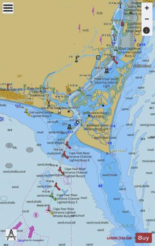 CAPE FEAR RIVER - CAPE FEAR TO WILMINGTON Marine Chart - Nautical Charts App