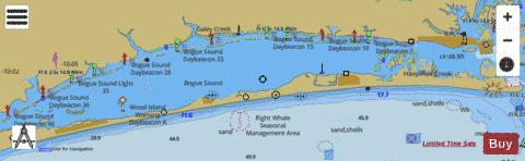 BOGUE SOUND Marine Chart - Nautical Charts App