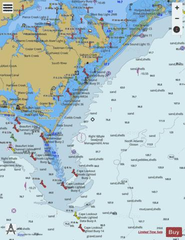 Portsmouth Isl To Beaufort Incl Cape Lookout Shoals Marine Chart