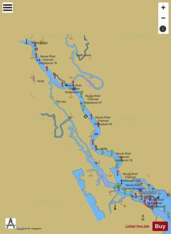 CONTINUATION OF NEUSE RIVER Marine Chart - Nautical Charts App