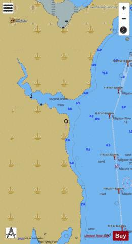 SECOND CREEK EXTENSION Marine Chart - Nautical Charts App