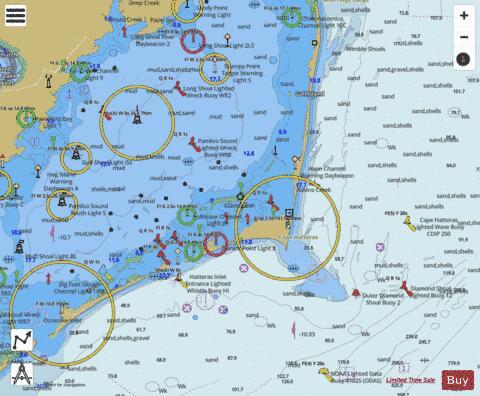 Cape Hatteras Wimble Shoals To Ocracoke Inlet Marine Chart