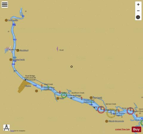 Chowan River Extension Marine Chart Us12205p538 Nautical