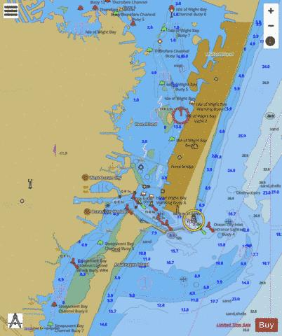 OCEAN CITY INLET Marine Chart US12211P553 Nautical Charts App