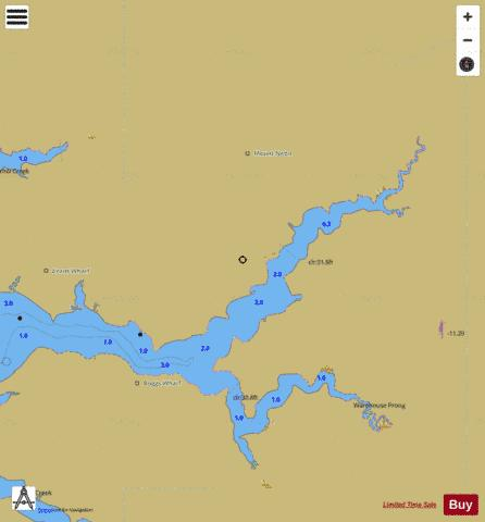 CONTINUATION OF PUNGOTEAGUE CREEK Marine Chart - Nautical Charts App
