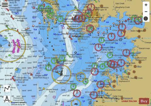 CHESAPEAKE BAY POCOMOKE AND TANGIER SOUNDS (Marine Chart
