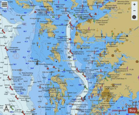 TANGIER SOUND - NORTHERN PART Marine Chart - Nautical Charts App