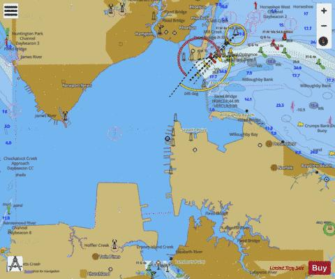HAMPTON ROADS VIRGINIA Marine Chart - Nautical Charts App