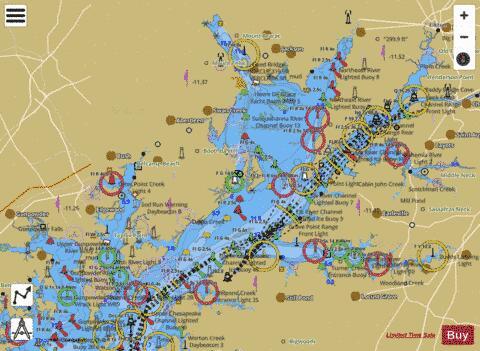Head of chesapeake bay marine chart us12274 p626 for Chesapeake bay fishing map